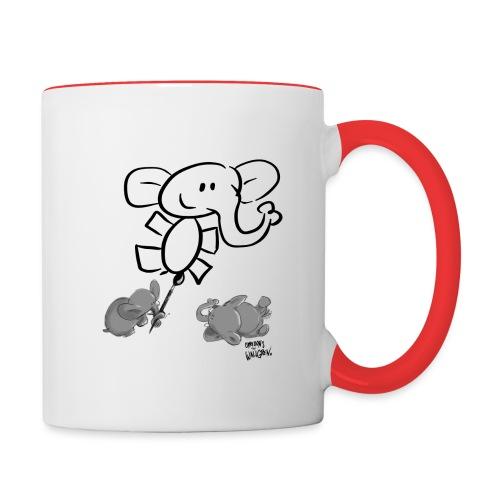 When elephants paints elephants light - Tvåfärgad mugg