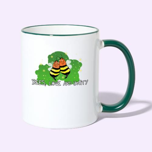 Bees Love and Unity - Tasse zweifarbig