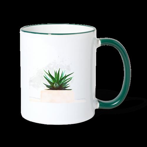 Simple plant minimalism watercolor - Contrasting Mug