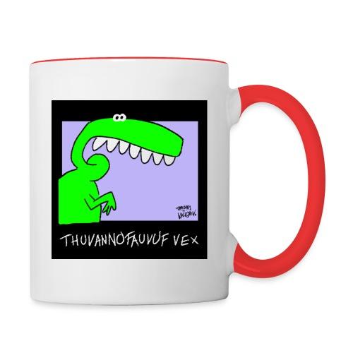 Dinosaur Thuvannofauvuf vex - Tvåfärgad mugg