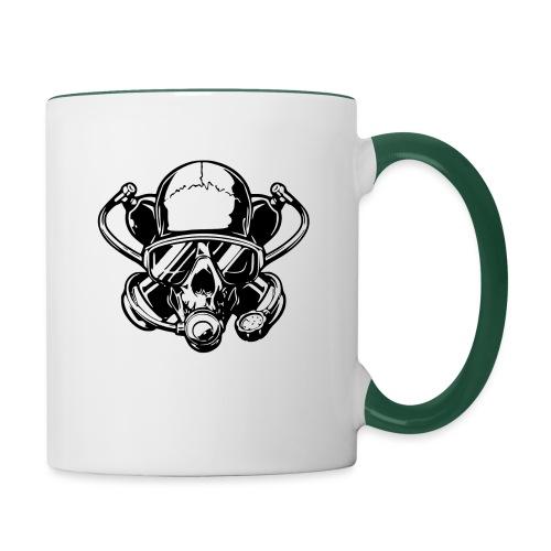 Skull diver white double face - Mug contrasté