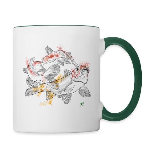 Carpa koi color - Tazze bicolor