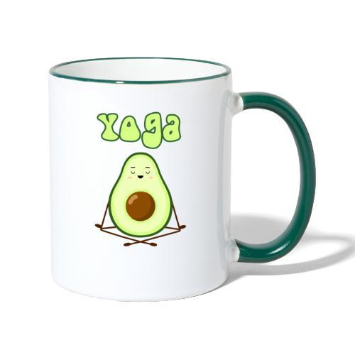 yoga avocado namaste pace amore hippie relax - Tazze bicolor