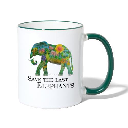 Save The Last Elephants - Tasse zweifarbig