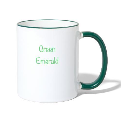 Green emerald - Contrasting Mug