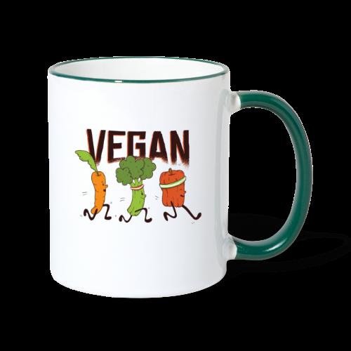 Vegan Runner Family - Contrasting Mug