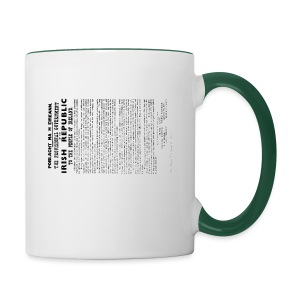 Irish proclamation - Contrasting Mug