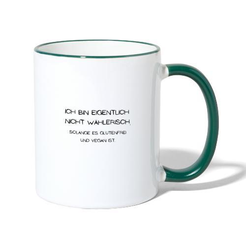 ich bin eigentlich nicht wählerisch... - Tasse zweifarbig