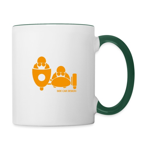 BASSET LOGO orange - Mug contrasté