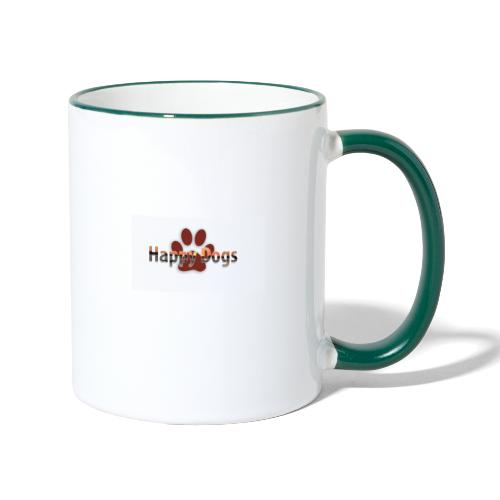 Happy dogs - Tasse zweifarbig