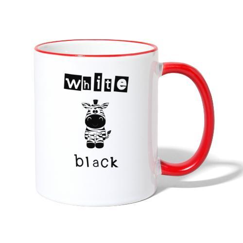 Zebra black or white - Tasse zweifarbig