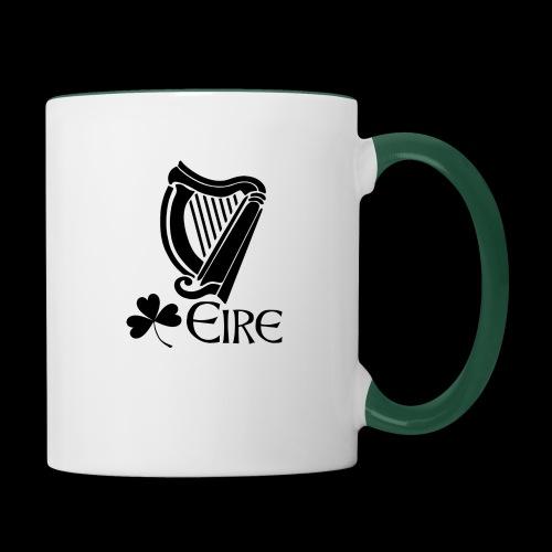 Irish Harp and Shamrock - Contrasting Mug