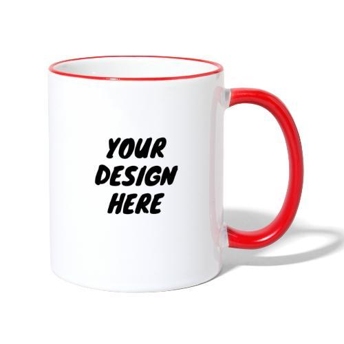 print file front 9 - Contrasting Mug