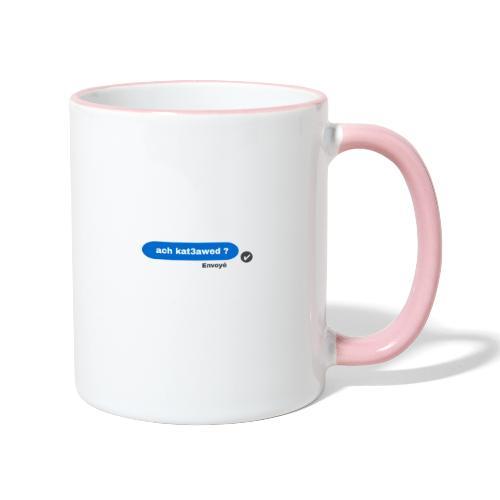 ach kat3awed messenger - Mug contrasté