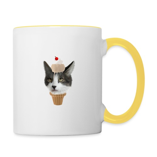 Ice Cream Cat - Tasse zweifarbig