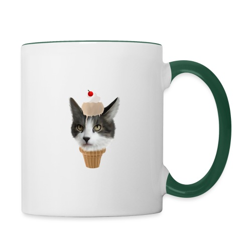 Ice Cream Cat - Tasse zweifarbig