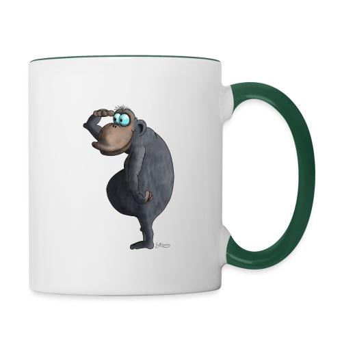 cooler Affe - Tasse zweifarbig