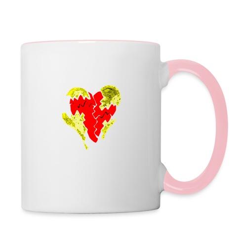 peeled heart (I saw) - Contrasting Mug