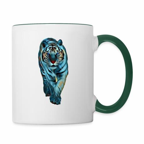 Tigre Caminando MEDIANO - Taza en dos colores