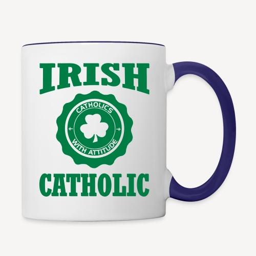 IRISH CATHOLIC - Contrasting Mug