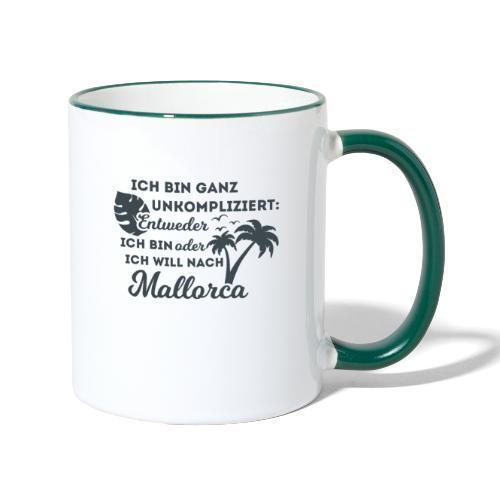 Mallorca - Entweder oder... - Tasse zweifarbig