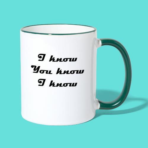 I know You know I know - Mug contrasté