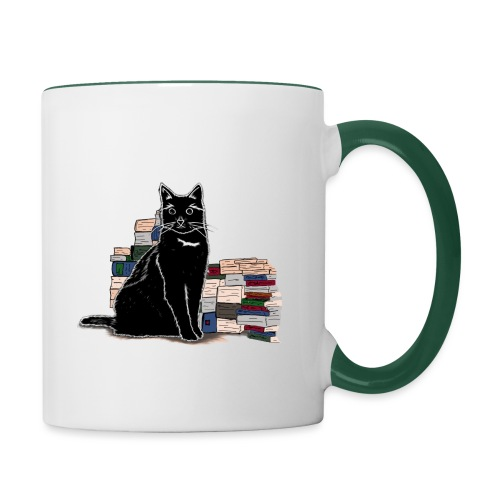 Black Book Cat - Tasse zweifarbig