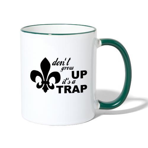 Don't grow up… Typo mit Lilie - Farbe frei wählbar - Tasse zweifarbig