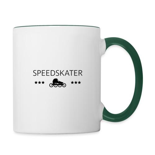 Speedskater - Tasse zweifarbig