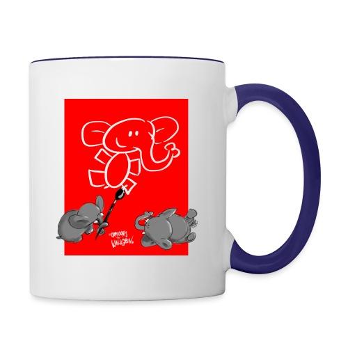 When elephants paints elephants (accesories) - Tvåfärgad mugg
