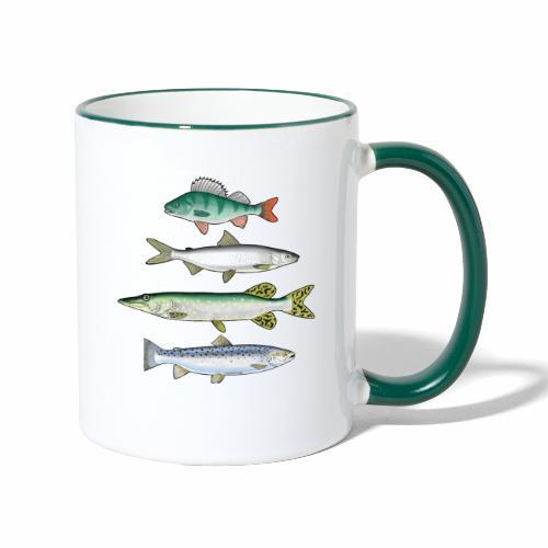 FOUR FISH - Ahven, siika, hauki ja taimen tuotteet - Kaksivärinen muki