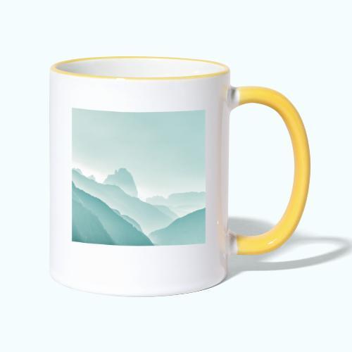 Minimalist zen mountains pastel - Contrasting Mug