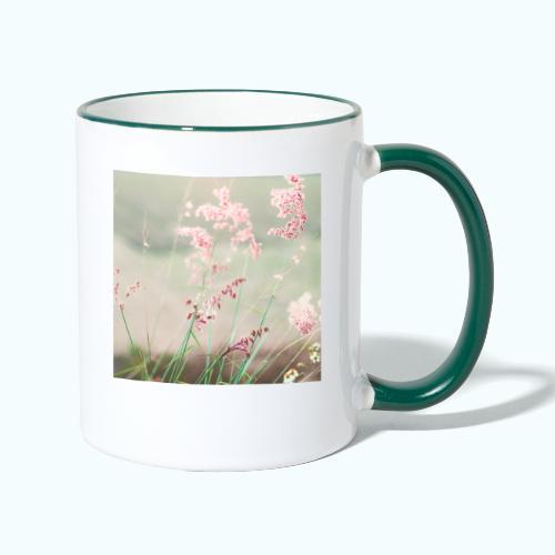 Summer meadow watercolor nature - Contrasting Mug