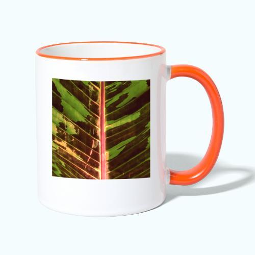 Bananas leaf watercolor - Contrasting Mug