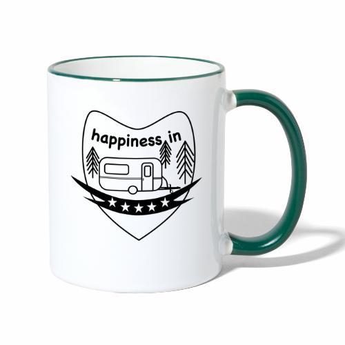 Happy Camper - Tasse zweifarbig
