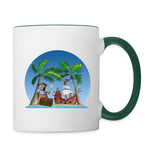 Pirat - Piratenschiff - Schatzinsel - Tasse zweifarbig