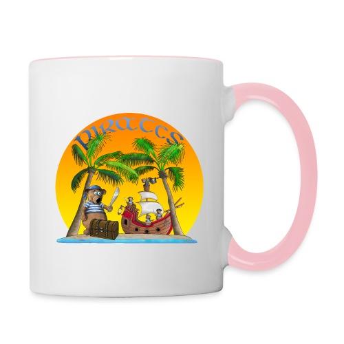 Piraten - Schatz - Tasse zweifarbig