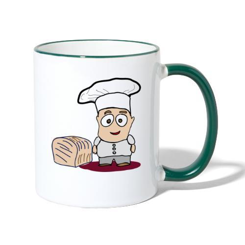Bäcker - Tasse zweifarbig