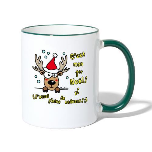 Renne - C'est mon Premier Noël - Cadeaux Drôles - Mug contrasté