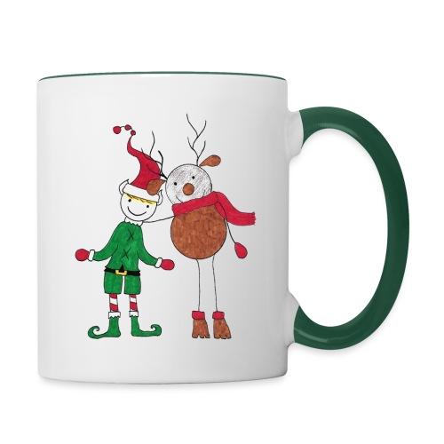 Elfo e Renna di Nonna Catia - Tazze bicolor