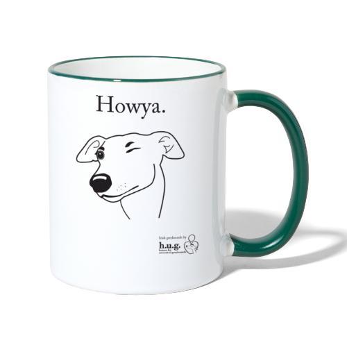 Howya Greyhound in black - Contrasting Mug