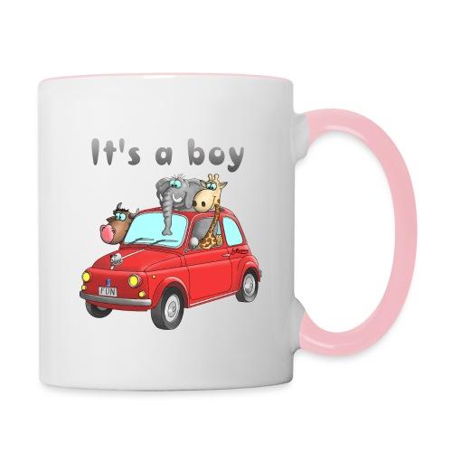 It's a boy - Baby - Cartoon - lustig - Tasse zweifarbig