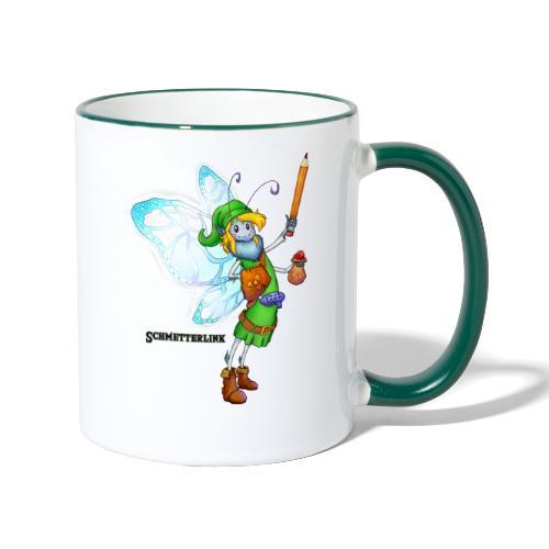 Schmetterlink - Tasse zweifarbig