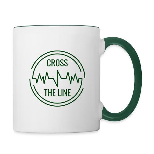 CROSS THE LINE - Mug vert - Mug contrasté
