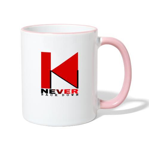 NEVER BACK DOWN - Mug contrasté