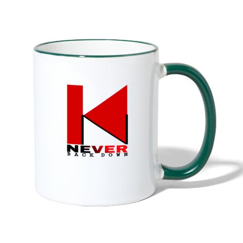 NEVER BACK DOWN - Mug contrasté