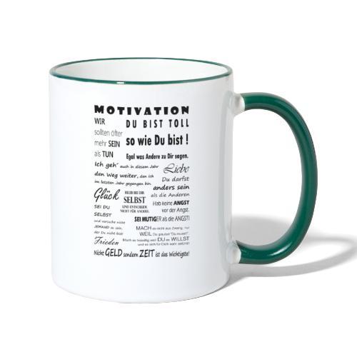 Motivation Spruch Typografie Sprüche Text Poster - Tasse zweifarbig