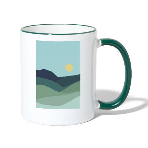 Sun over mountains - Tofarvet krus