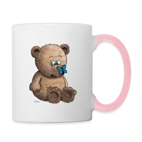 Teddybär - Tasse zweifarbig