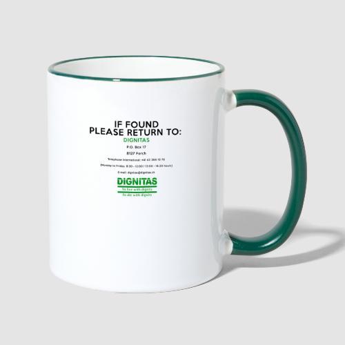 Dignitas - If found please return joke design - Contrasting Mug